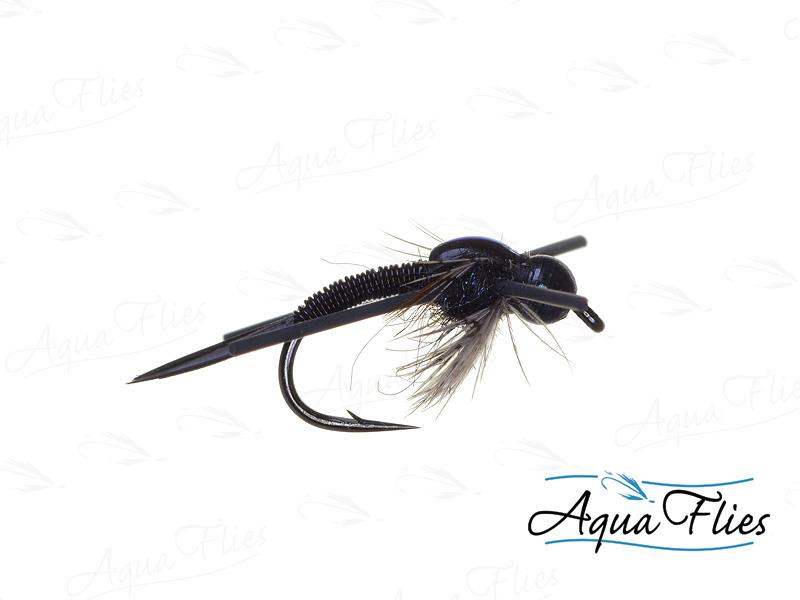 17024 TDF Bead Head Copper John, Black