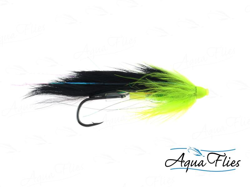 11028 Stu's Bunny Hare Leech Tube, Black/Chartreuse