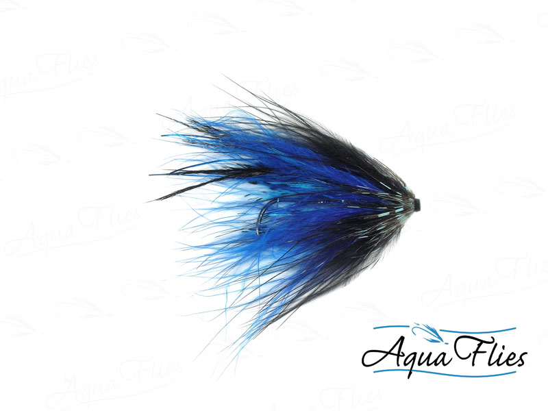 11043 Hartwick's Marabou Tube, Blue/Black