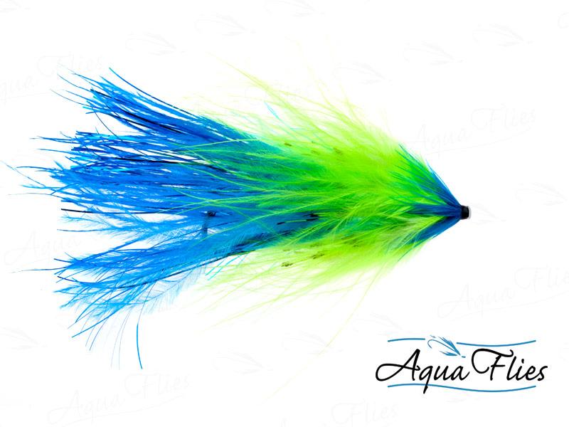11051 Hartwick's Flashtail Tube, Chartreuse/Blue