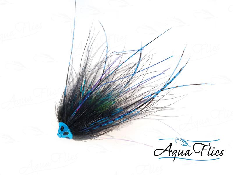 11071 Stu's Metal Head Tube, Black/Blue