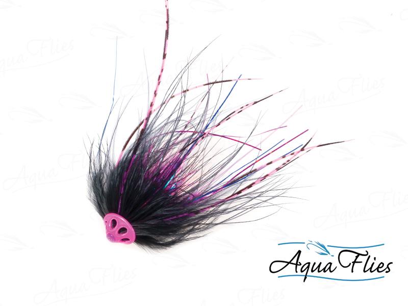11072 Stu's Metal Head Tube, Black/Pink