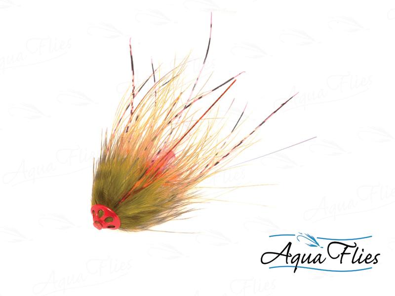 11074 Stu's Metal Head Tube, Olive/Orange