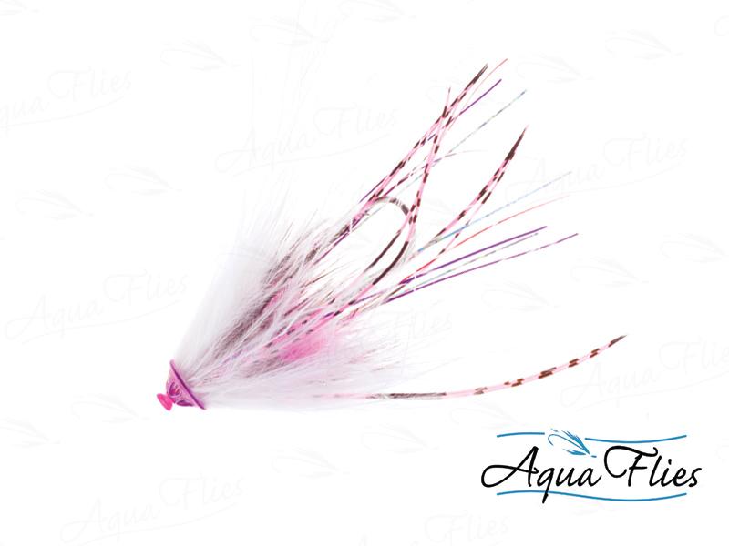 11077 Stu's Metal Head Tube, White/Pink