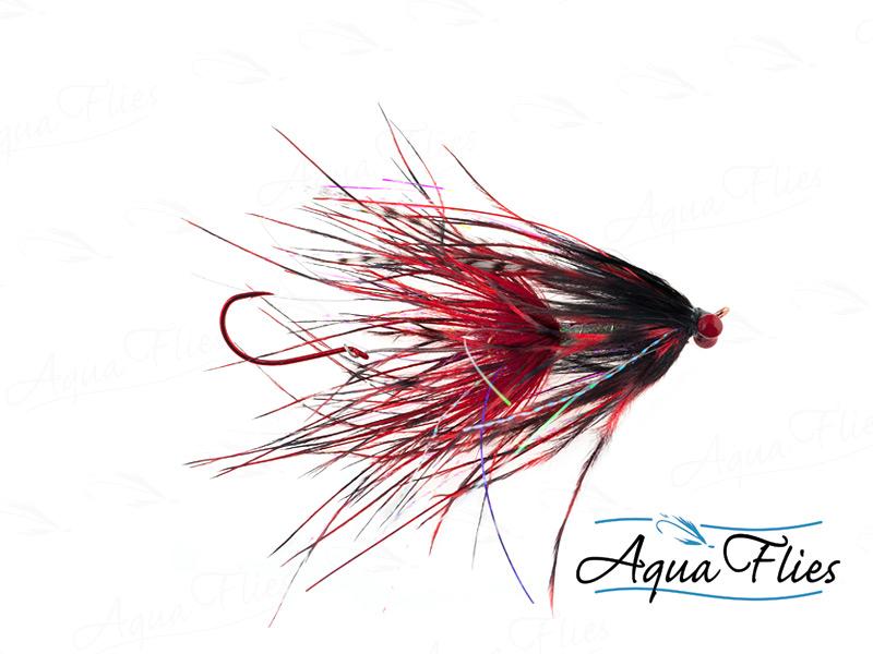 12018 Stu's Barred Ostrich Intruder, Red/Black
