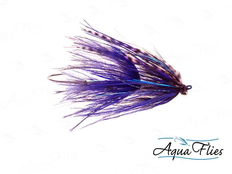 12019 Stu's Barred Ostrich Intruder, Black/Purple