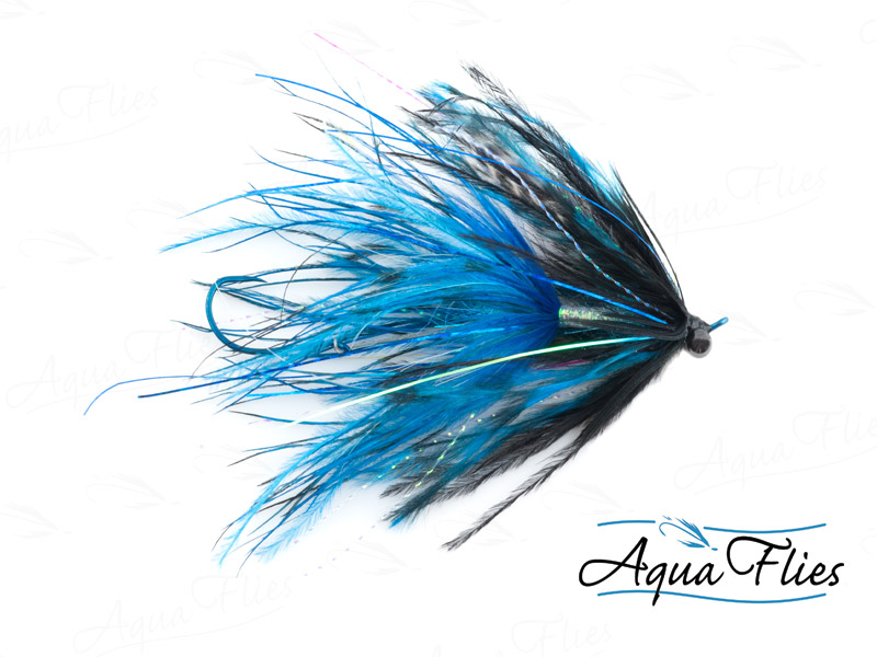 12021 Stu's Barred Ostrich Intruder, Blue/Black