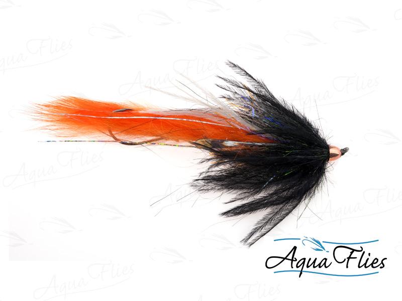 12321 Dirty Hoh, Steelhead Size, Black/Orange