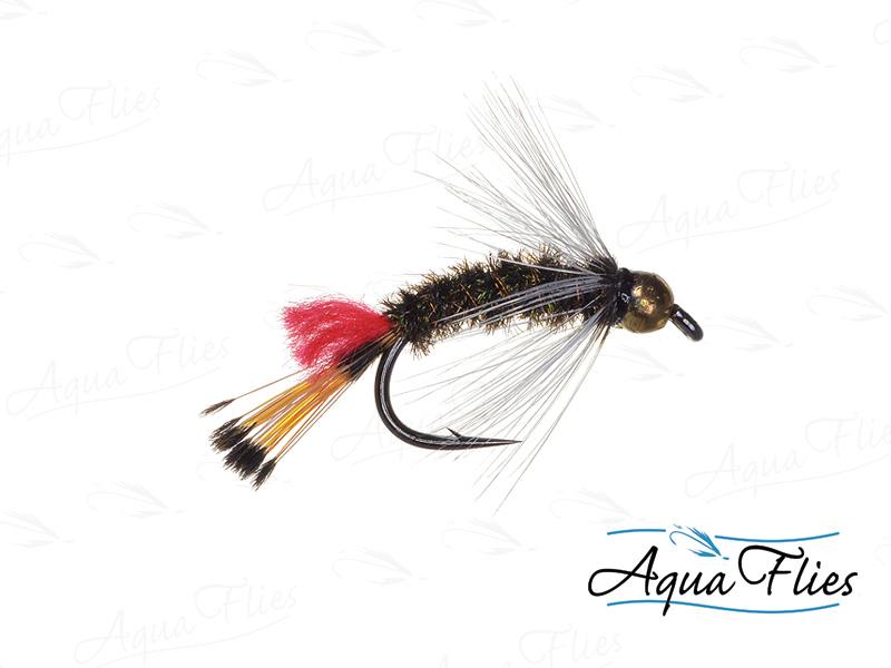 17047 TDF Bead Head Red Tag, Peacock