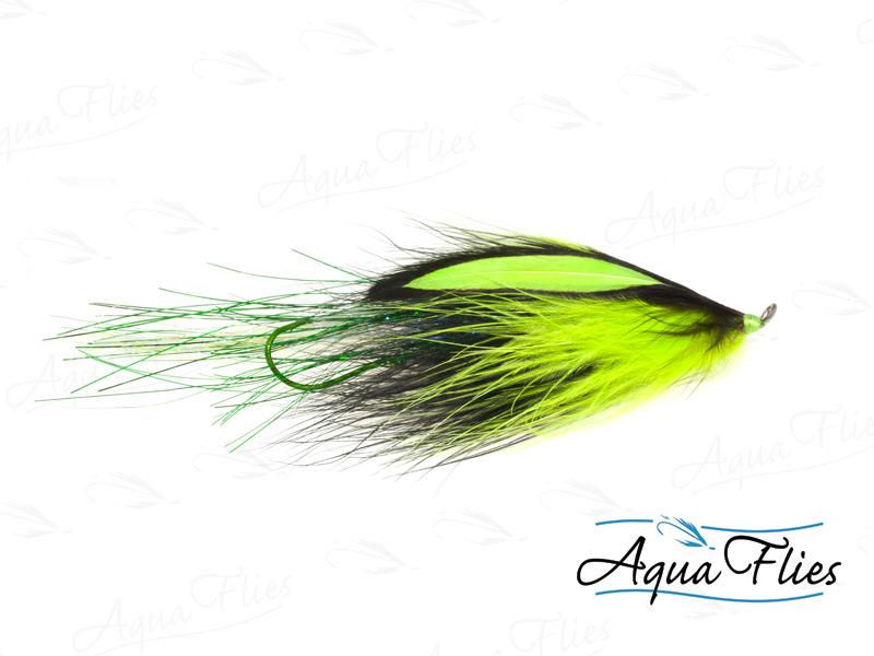 14103 Flashtail Stinger Prawn, Chartreuse/Black