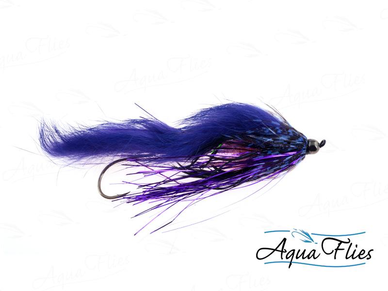 14131 Hartwick's Tungsten Cyclops Leech, Black/Purple