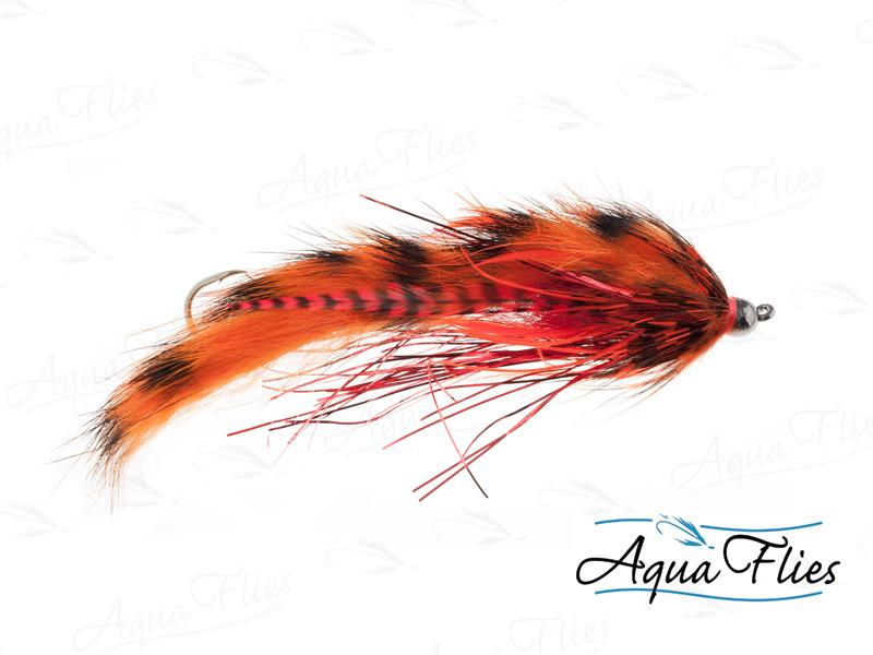 14133 Hartwick's Tungsten Cyclops Leech, Orange/Red