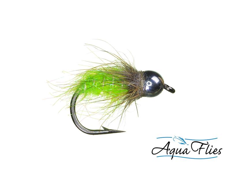17008 TDF Bead Head Chartreuse Bug