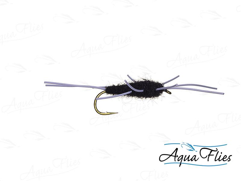 17014 TDF Girdle Bug Dubbing Body, Black