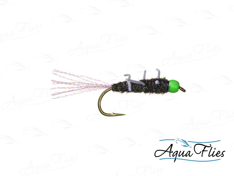 17039 TDF Bead Head Green Bead Girdle Bug, Black
