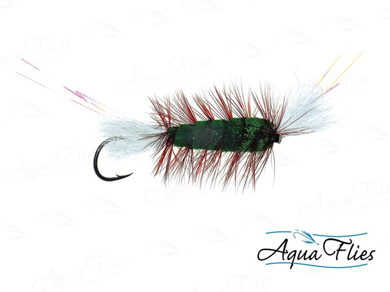 16140 Cigar Tube, Green/Brown