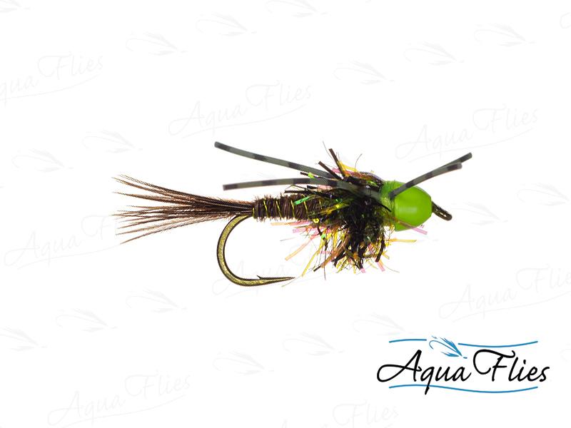 17054 TDF BC-Green Hot Cone Stone Rubber Legs