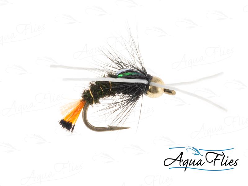 17043 TDF BH Orange Tag Rubberlegs, Peacock