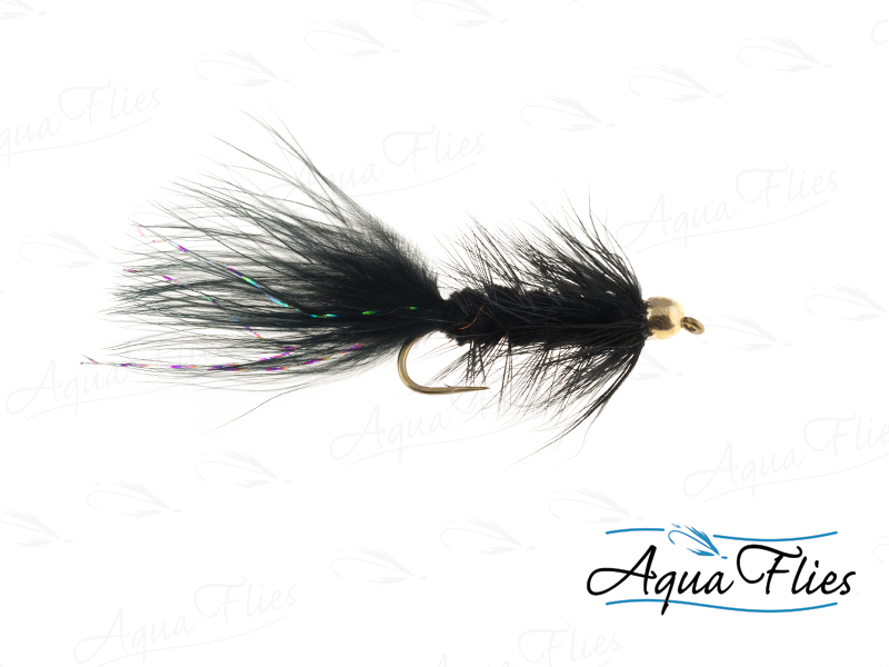 TDF BH Wooly Bugger, Black
