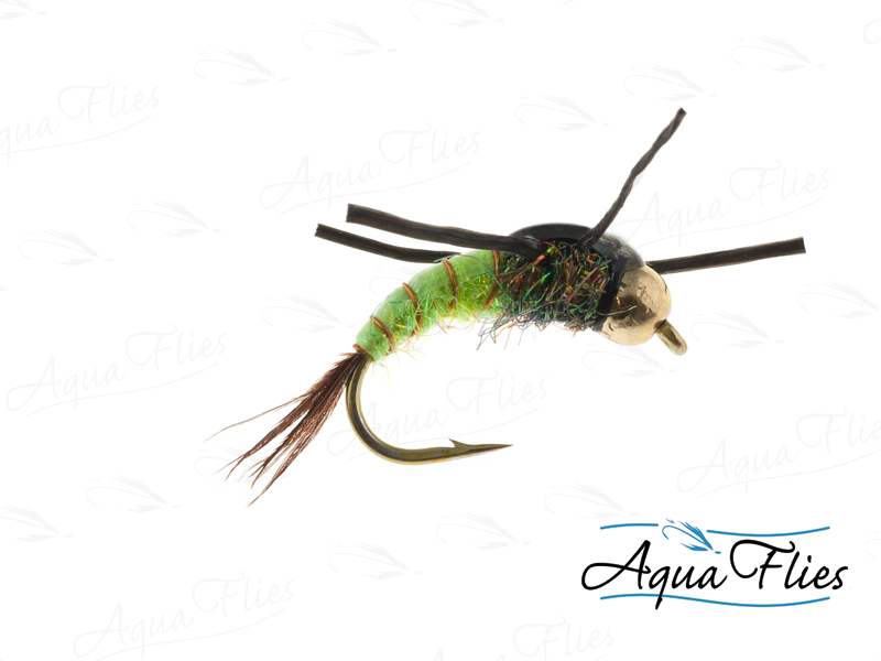 17095 BH Tungsten Liberation Nymph, Chartreuse/Black