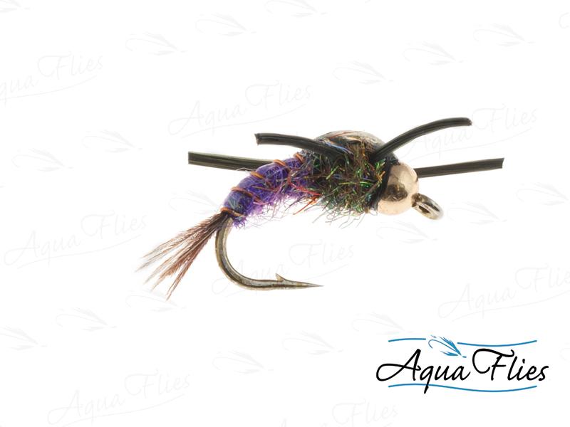 17097 BH Tungsten Liberation Nymph, Purple/Black