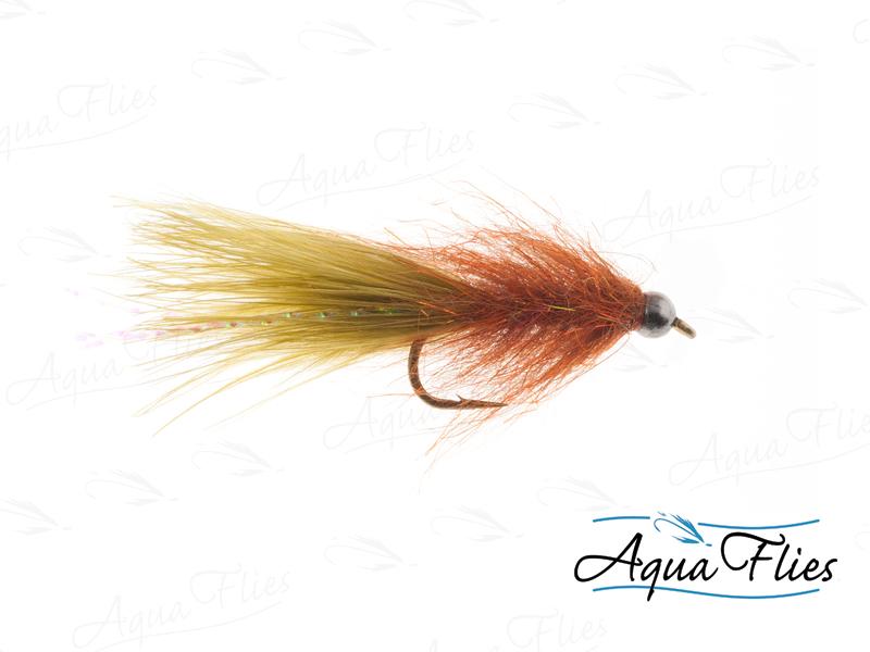 17121 BH Tungsten Stillwater Leech, Burnt Orange/Olive