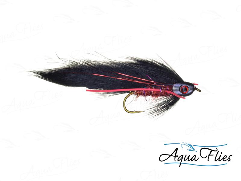 17912 Fish Skull Black Brahan Zonker, Red/Black