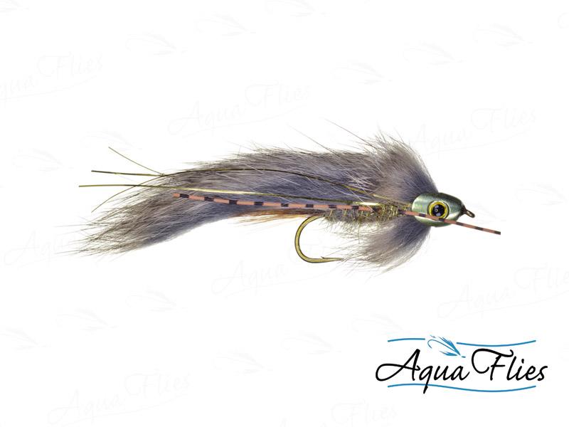 17915 Fish Skull Brown Zonker, Gold/Natural Brown