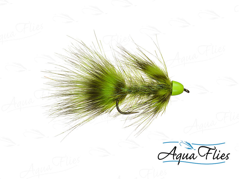 17067 TDF Hot Cone Wooly Bugger, Olive, aka Green Lantern