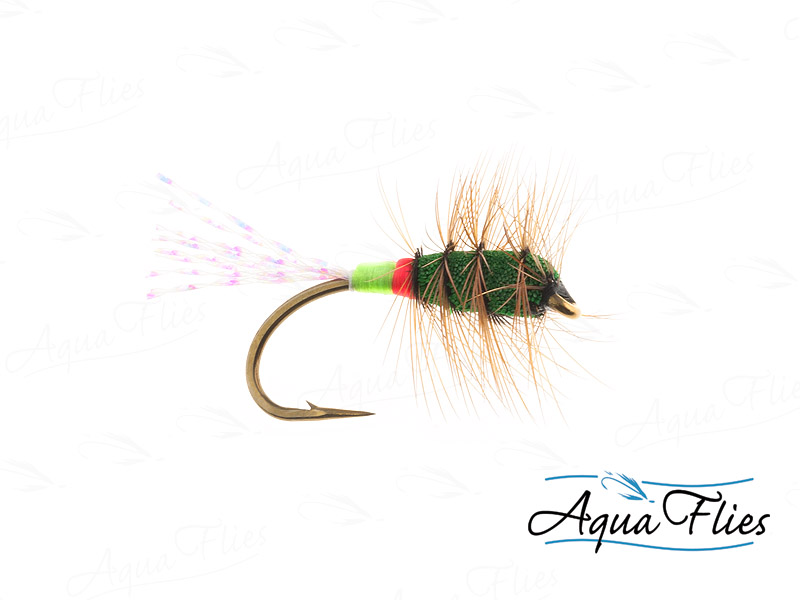 16173 Green Machine Sparkle, Green/Red Butt