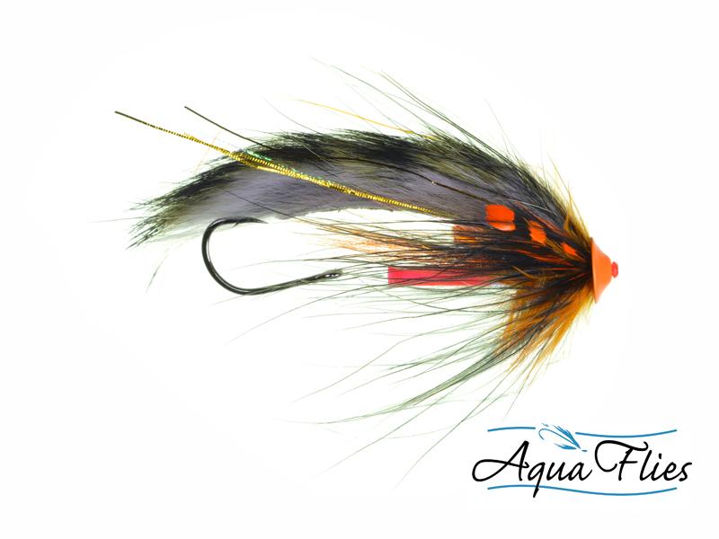 11004 Stu's Tiger Tail Turbo Cone, Black/Orange